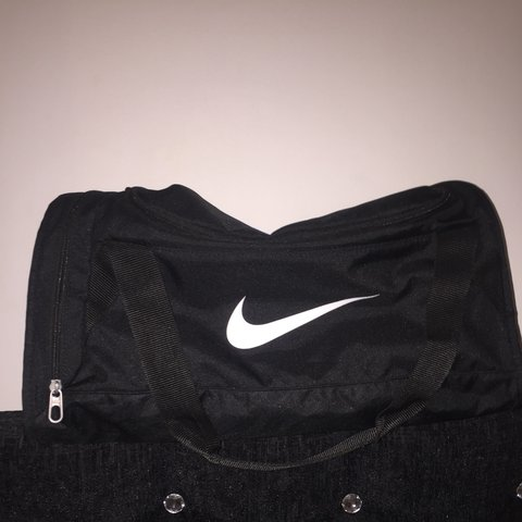 1e19e5f7f836a Unisex NIKE all black sports bag!!!! Over the shoulder and - Depop