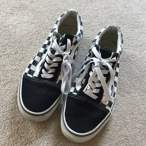 fd264c9e97 Vans old skool checkerboard Worn a few times but great for - Depop