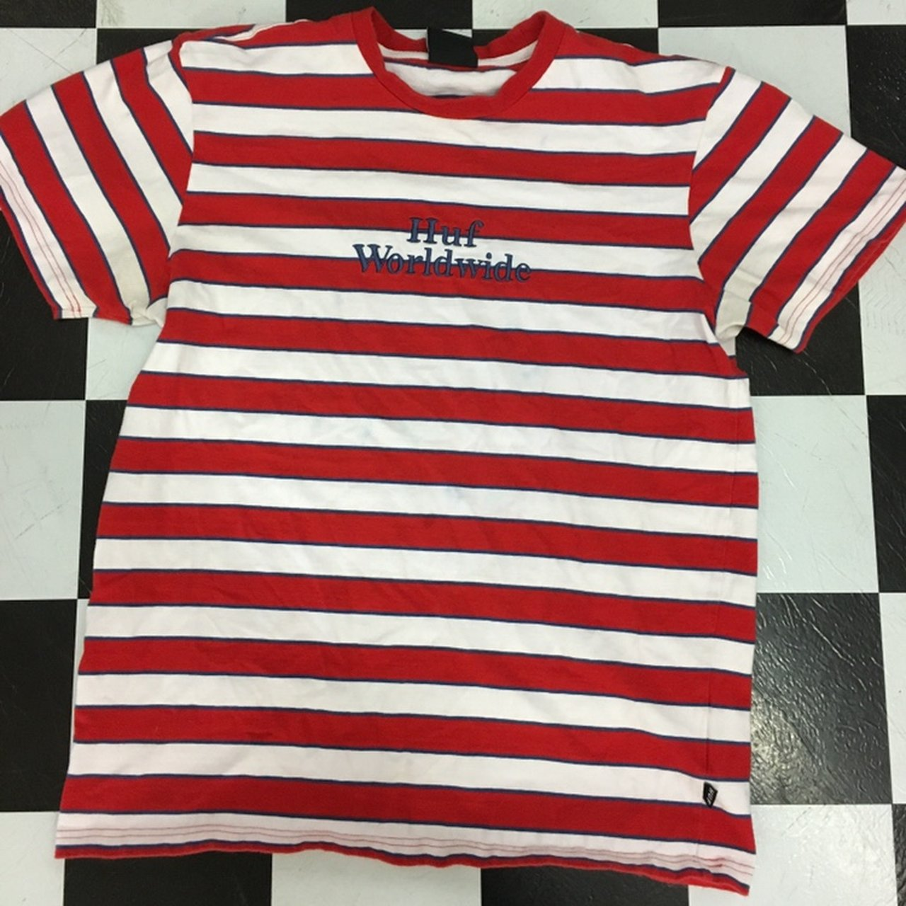 67b93c5845 Guess Jeans Red And White Striped Shirt