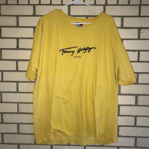 a1280311 @mhoppes_pmf. 2 years ago. Fort Worth, United States. Vintage Tommy  Hilfiger T-shirt yellow small ...
