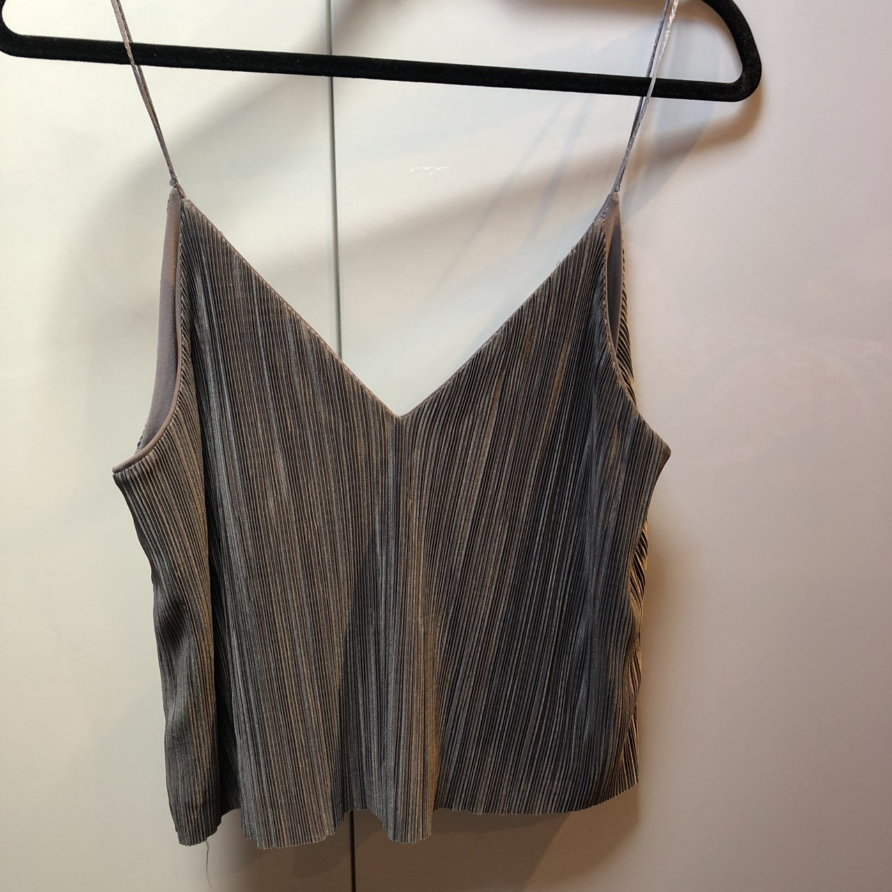 Urban outfitters grey pleated top Worn ac809d0d4