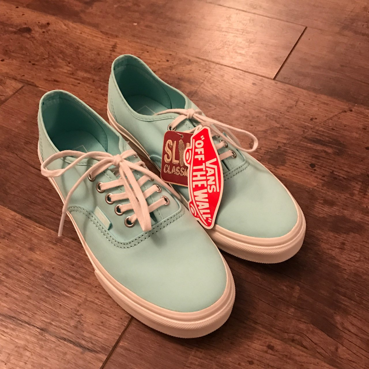3230399b92c Brand new with tags blue vans slim uk size 5.5. Perfect as - Depop