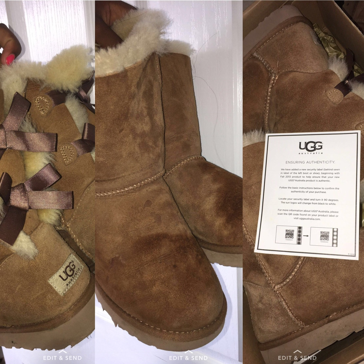 good out x skate shoes on feet shots of Authentic UGG boots with box, super comfy and warm... - Depop