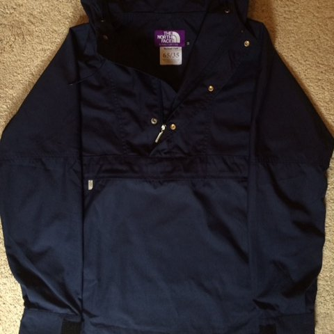 The North face purple label 65 35 wind jammer pullover navy - Depop 27c6cd1bc