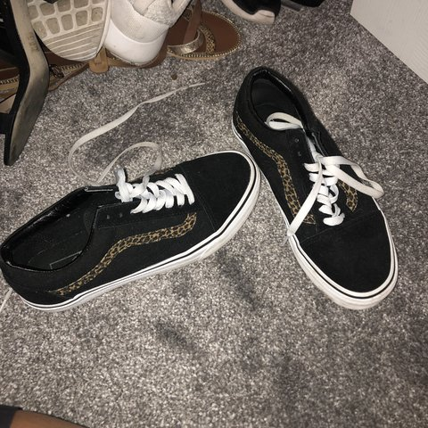 e7b226025077 @chloeelizabethmac. 8 months ago. West Bromwich, United Kingdom. Selling  vans original old Skool with leopard print ...