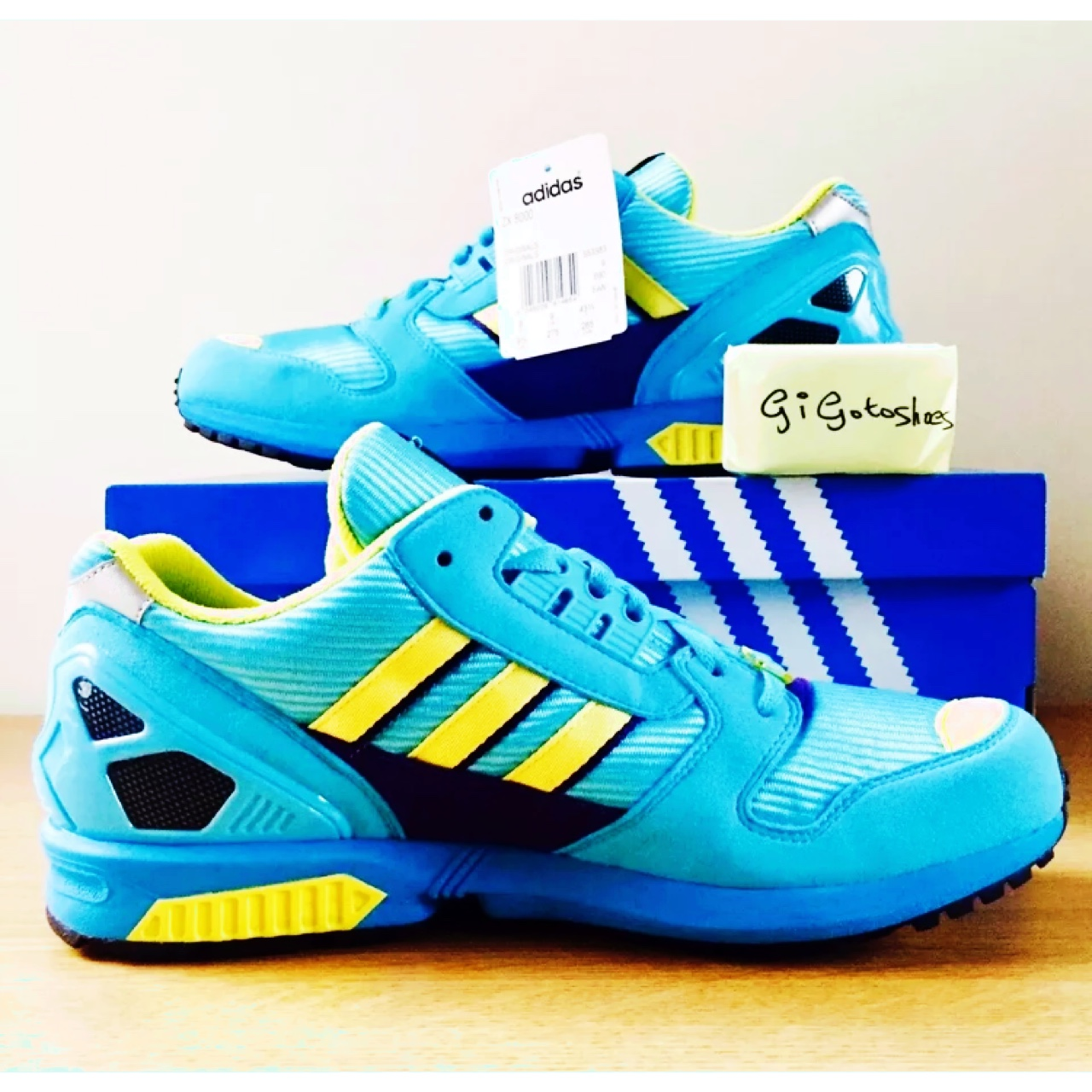 info for 51f63 2d7fe Adidas ZX 8000 Aqua Torsion OG Aqua/Lemon... - Depop
