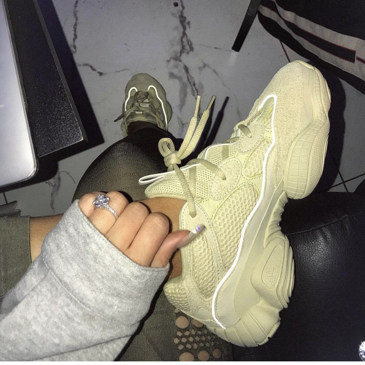 timeless design c56b4 74e46 Yeezy 500 Supermoon Yellow 6.5 IN HAND! These run... - Depop
