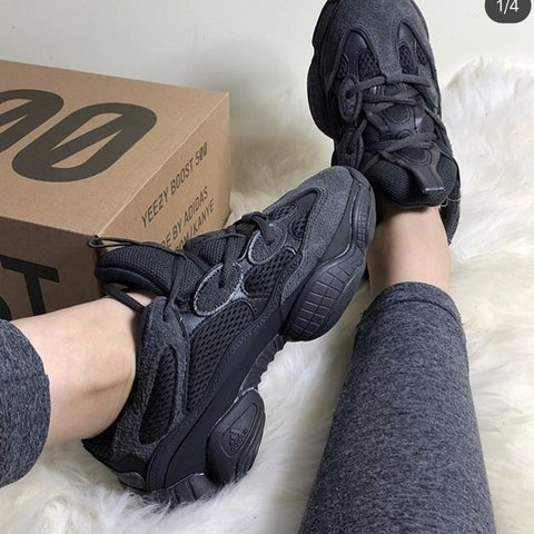 d6abe7f73 IN HAND! Yeezy 500 Utility Black Size EU 38 2 3 which is a - Depop