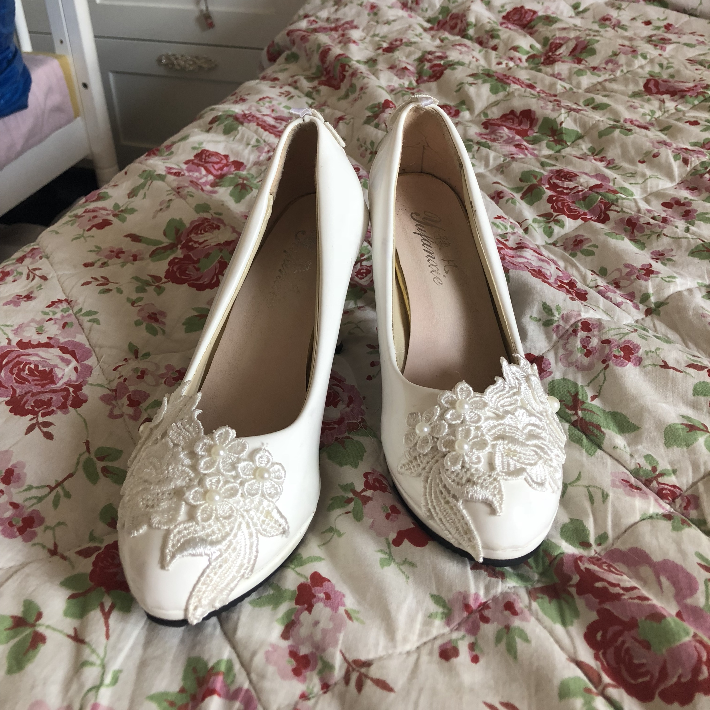 Cute Bridesmaid Prom Shoes Worn Once For My Mums Depop
