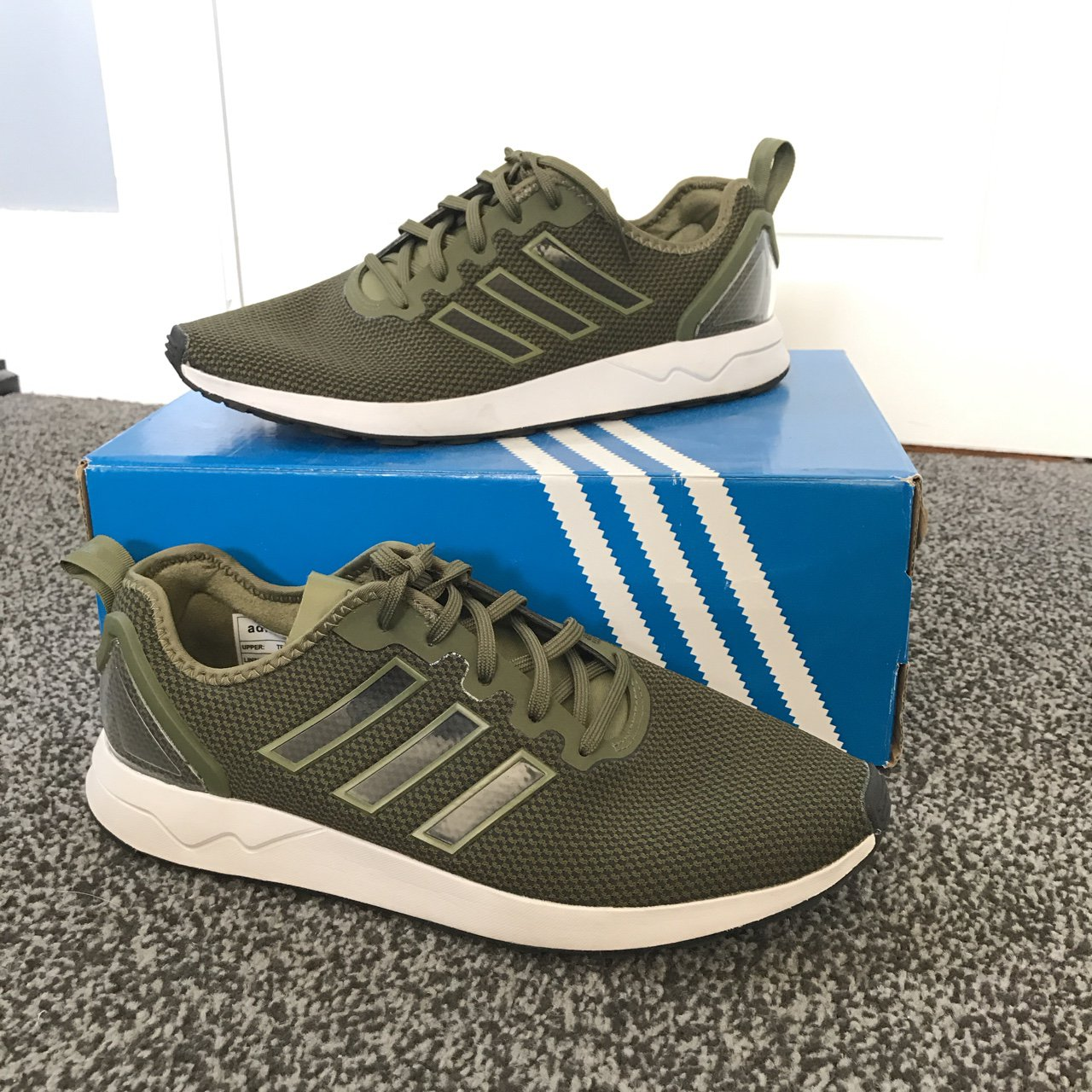 1c7681b3ab3b6 Adidas Olive ZX Flux ADV - worn once! Perfect condition with - Depop