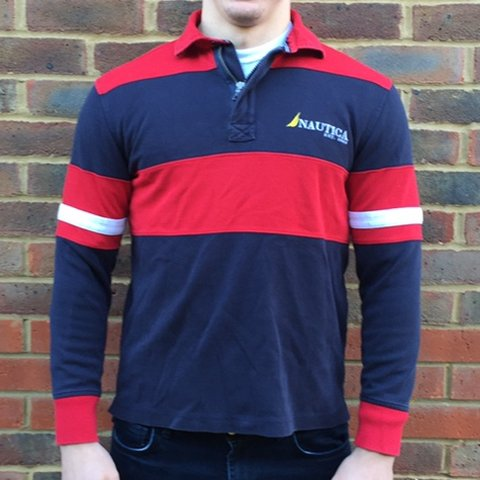 1274d416 @josephsmith_. 5 months ago. Eastleigh, United Kingdom. Vintage nautica  rugby shirt / polo shirt. Long sleeved.