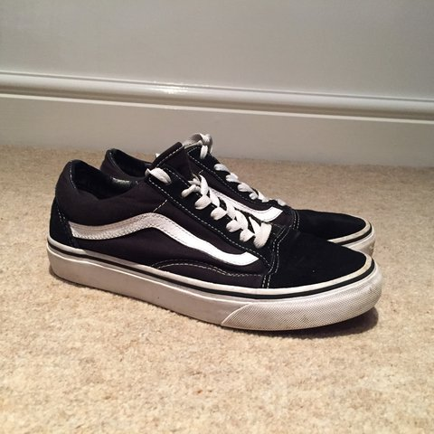 Old Skool vans! Size 5. They have been worn a bit but they - Depop ace161265