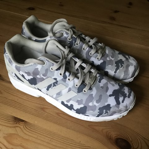 716a8f71f Adidas ZX Flux torsion desert camo - rare Really good worn - Depop