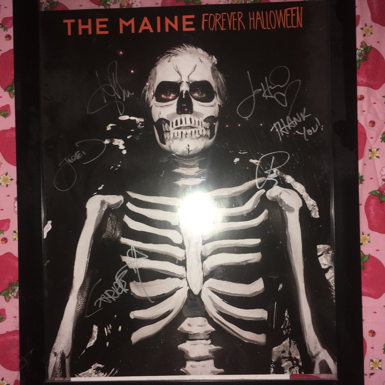 signed rare autographed the maine forever halloween poster. - depop