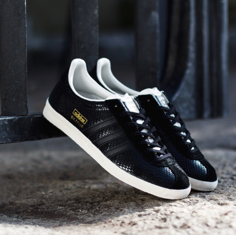 Limited Edition snakeskin Adidas Gazelle trainers....