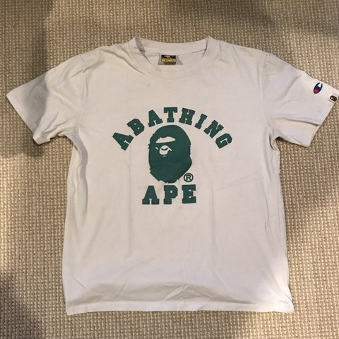 918f8b83 @rafeizzy. 10 months ago. Los Angeles, United States. Bape x champion tee.  Kids L but fits ...