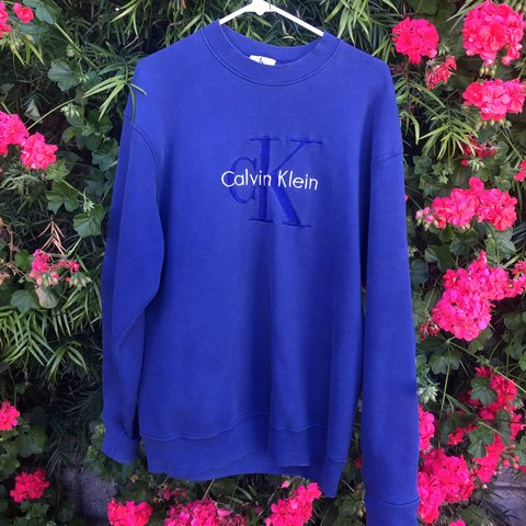 Why Its Good To Pull Over To Side Of >> Vintage Blue Calvin Klein Pull Over Good Condition With A Depop