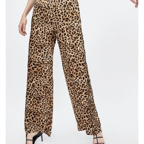 5ec0c87e10f1 @florider. 10 months ago. Rochdale, United Kingdom. Lovely silky leopard  print trousers, can be dressed up ...