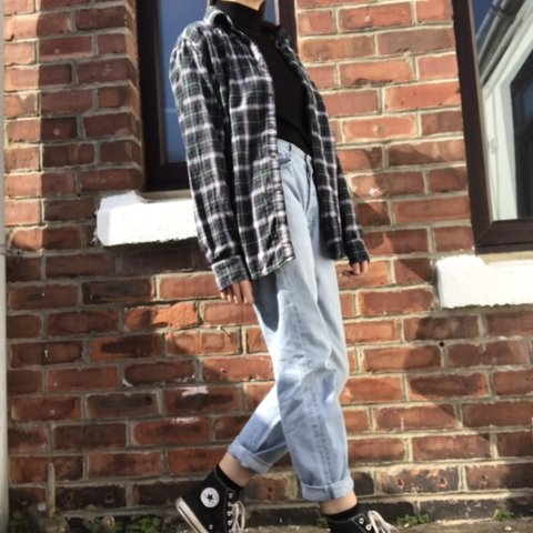 ec91e9a7 @popsphelan. 6 days ago. Durham, United Kingdom. UNIQLO tricolour checkered/plaid  flannel shirt ...