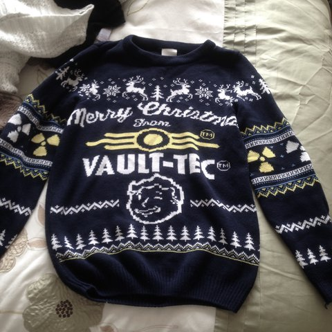 Vault Tec Christmas Sweater.Listed On Depop By Tiredghxst