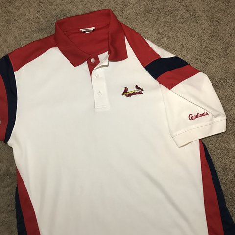 cd3788f71 Like new St. Louis cardinals polo shirt. Size Large. No or - Depop