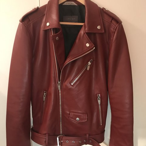 466a4ffe2250 @zxcvb97. 2 years ago. London, UK. ZARA MAN Red Faux Leather Biker Jacket.