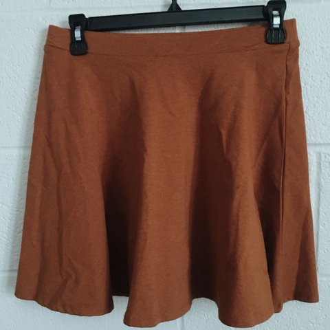 Forever 21 light brown skater skirt size medium I ve a - Depop 68974a09c