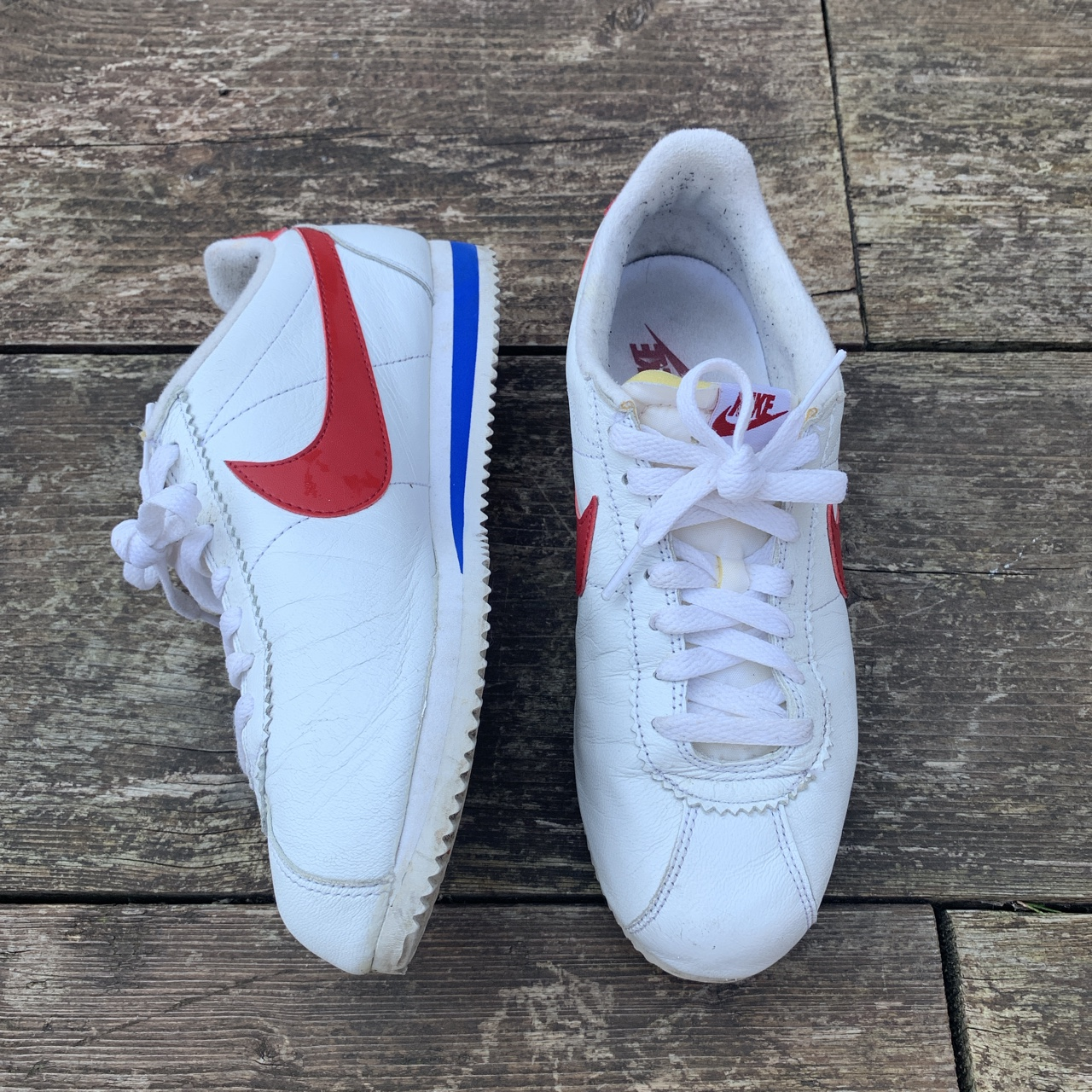 low priced 0a40f bf55b Nike Cortez Forest Gump trainers. In good condition... - Depop