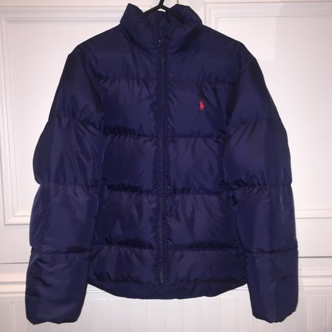 84063cb05 @lilybedwell. 2 years ago. Oxford, UK. Polo Ralph Lauren down puffer jacket  // puffa coat. Polo sport navy blue ...