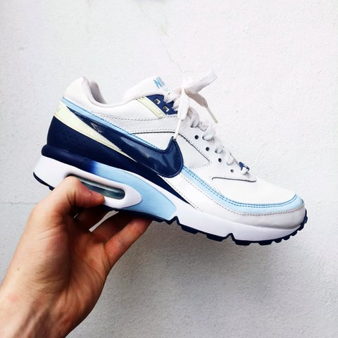 c3eb399c2c Nike air max BW Classic. White/ navy/ baby blue. The baby is - Depop
