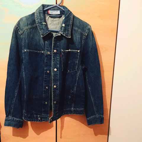 5f6c52de74 Vintage Levis denim jacket.dark blue in good condition for - Depop
