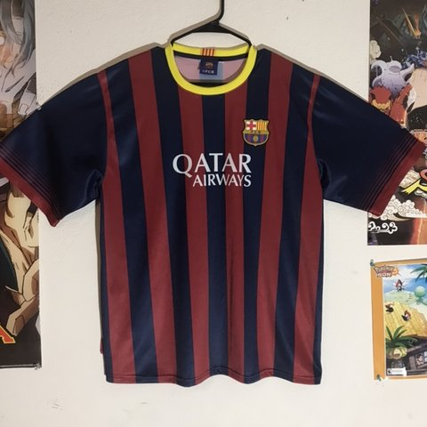 b080bcb0658 Qatar Airways Unicef FC Barcelona Lionel Messi  10 Soccer Us - Depop