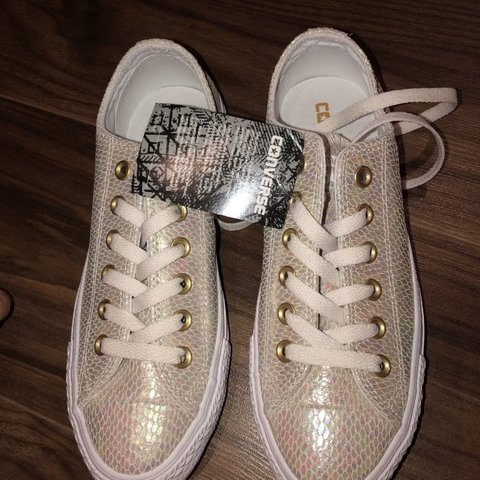 d3c0a6a630 Brand new converse trainers from office Size 5 Iridescent - Depop