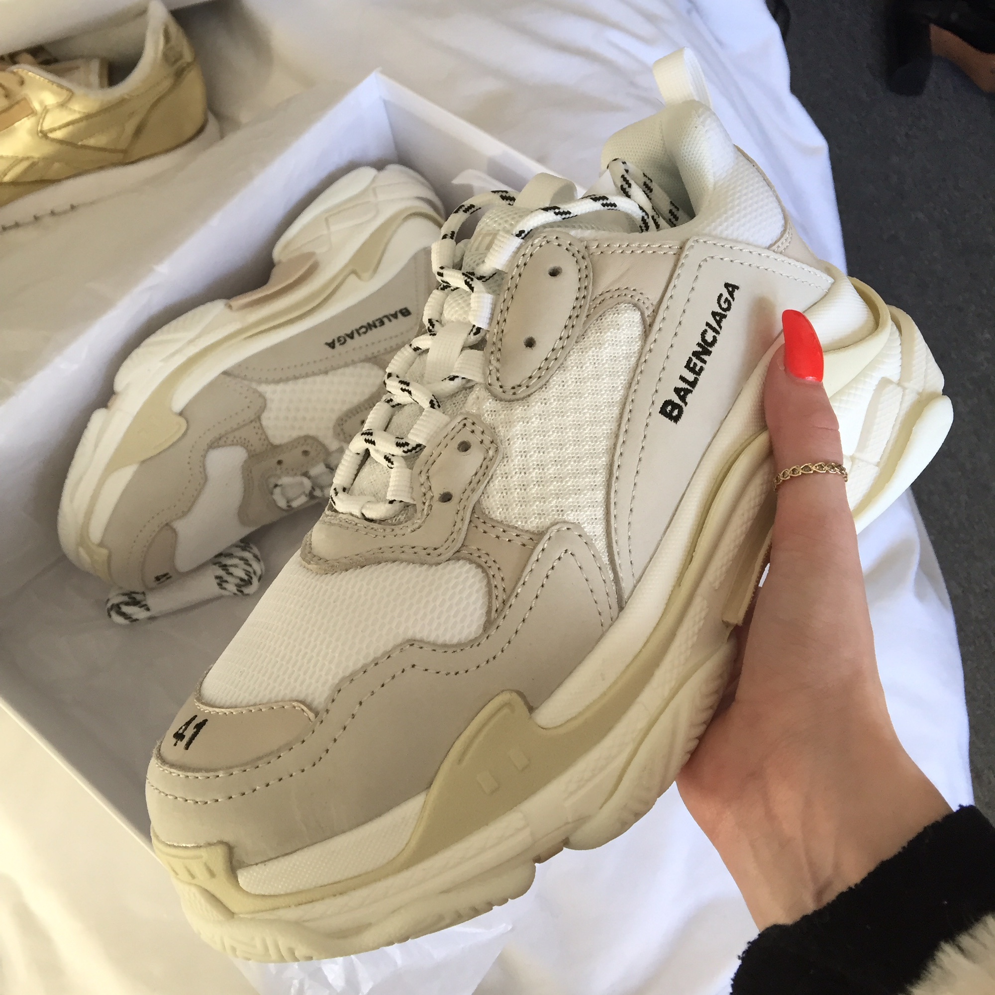 Price of Womens Balenciaga Triple S Trainers Black Red online