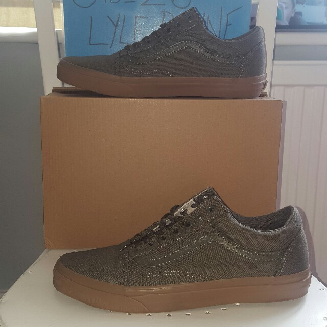 Size Depop From Old Khaki Vans Gum Sole Skool Copped 9 UzMVqGpS