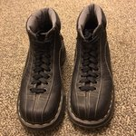 4fab46f41ba DR MARTENS ADDY. I put penny s inside these. they re too big - Depop