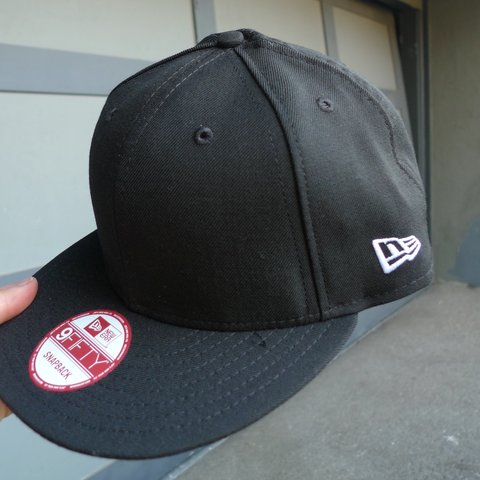 738312fb ... buy new era all black 9fifty snapback hat. blank no logo on depop 3aa9d  239a7