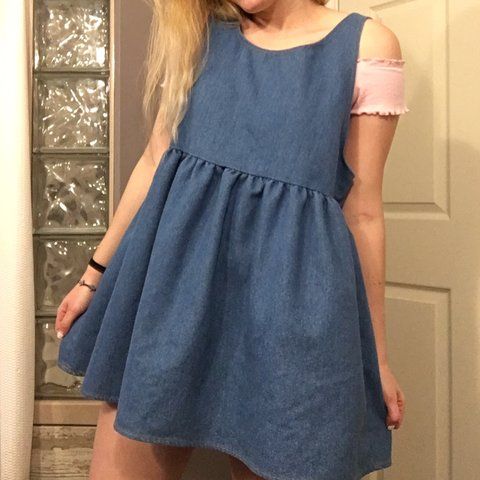 a0461bb5b1c Adorable Denim Babydoll Dress this is so super cute