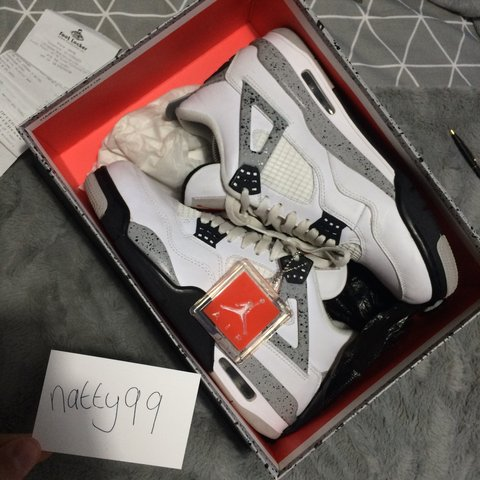 ea5722b273a34f Nike Air Jordan 4 White Cement 2016 release ❕Used but in can - Depop