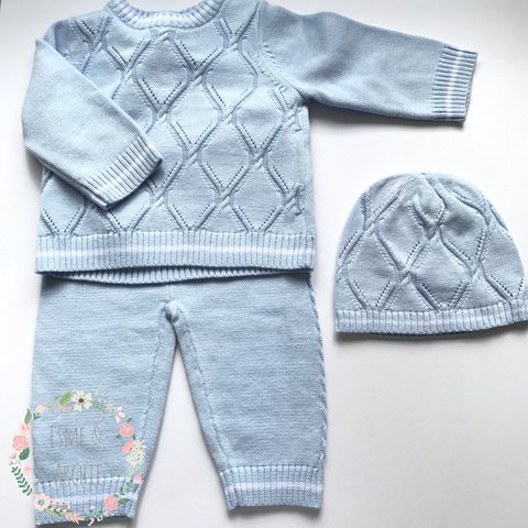 Gorgeous Baby Boys Spanish Knitted Set Jumper Pants And A 3 Depop