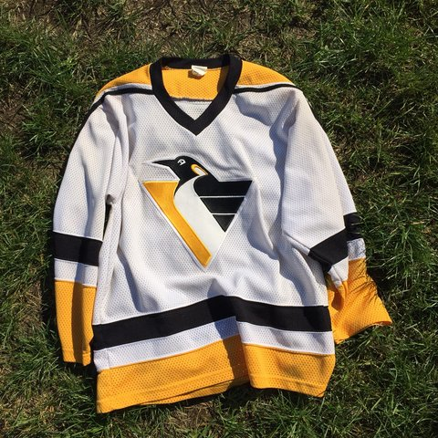 1fb3c7a7dc6 @oneup1. 8 months ago. Indianapolis, United States. Vintage 90s CCM Pittsburgh  Penguins hockey jersey.