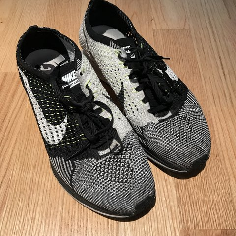 ffd6c98f2ed2 Black and white Nike flyknit trainers Size U.K. 7.5 One of - Depop