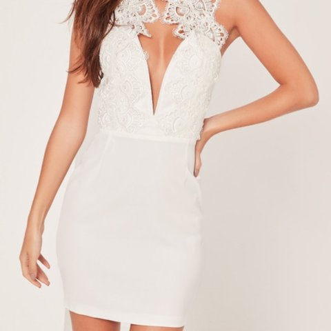 9c26c105ed0 White Lace High Neck Dress. RRP £45. Worn only once and wear - Depop