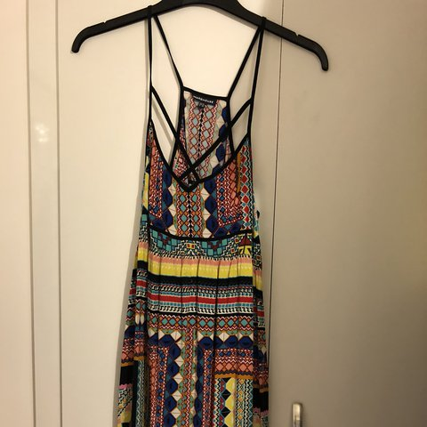 ff35071c586 Warehouse colourful maxi dress Size 14 Gorgeous dress for or - Depop