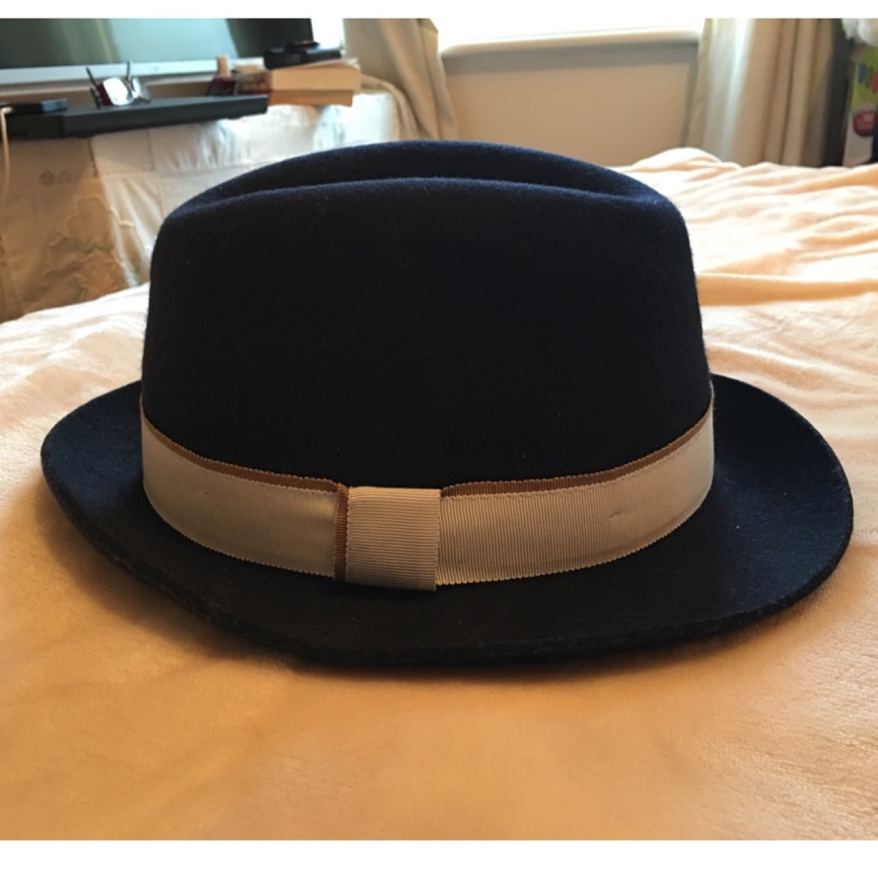 9ac2f83471 LIMITED EDITION - ladies Paul Smith fedora hat in Navy Blue. - Depop