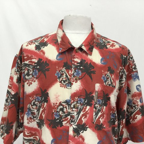 10160c48 Columbia Hawaiian Shirt 🌺🌺 Extra Large All of our staff - Depop