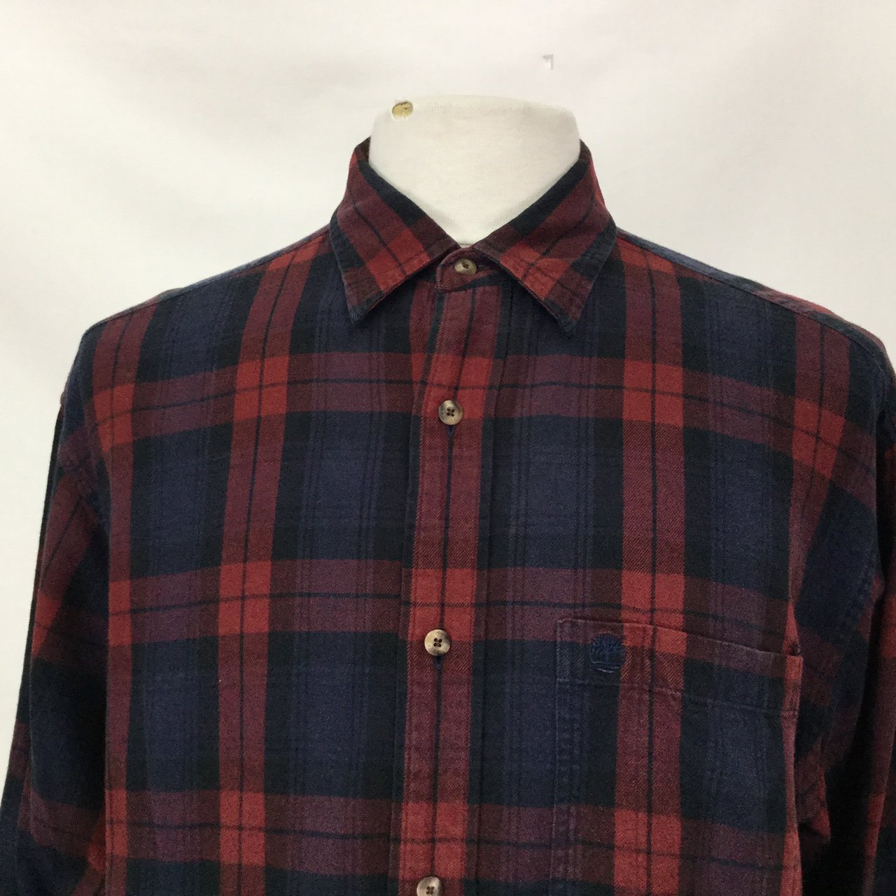 774e666d Embroidered Timberland Shirt Large All of our staff are - Depop