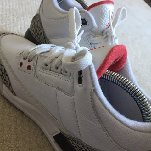 35dc5599230d57 Jordan retro 3 white cement. Not really looking to sell good - Depop