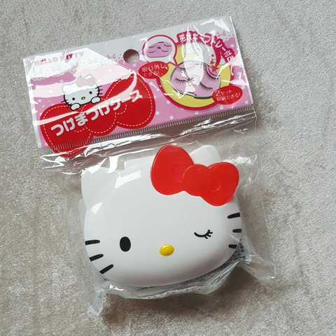 6c33d4abb Hello Kitty Eyelashes case. Fits 2- 3 pairs of lashes. for - Depop