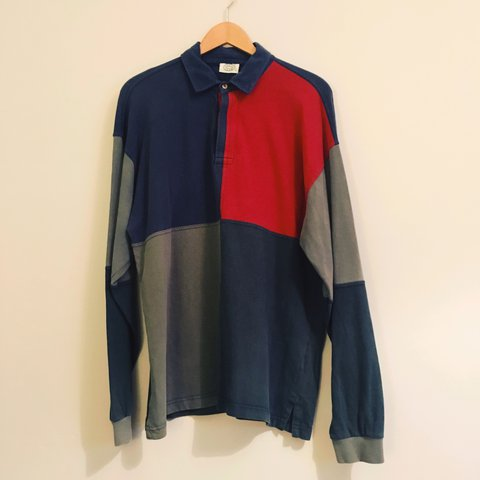 6f7faec01d5 @lethbridgej. last year. Plymouth, United Kingdom. Gucci Coloured Red Blue  Green Long Sleeve Rugby Polo Shirt